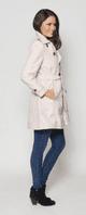Womens Short Pink Trench Rain Coat db301